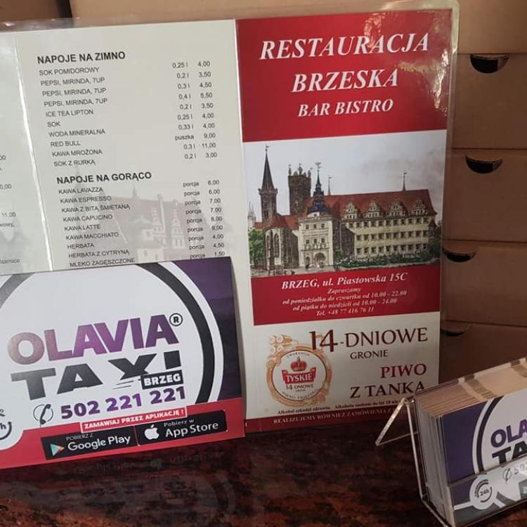 Współpraca Olavia Taxi z Restauracją Brzeską w Brzegu