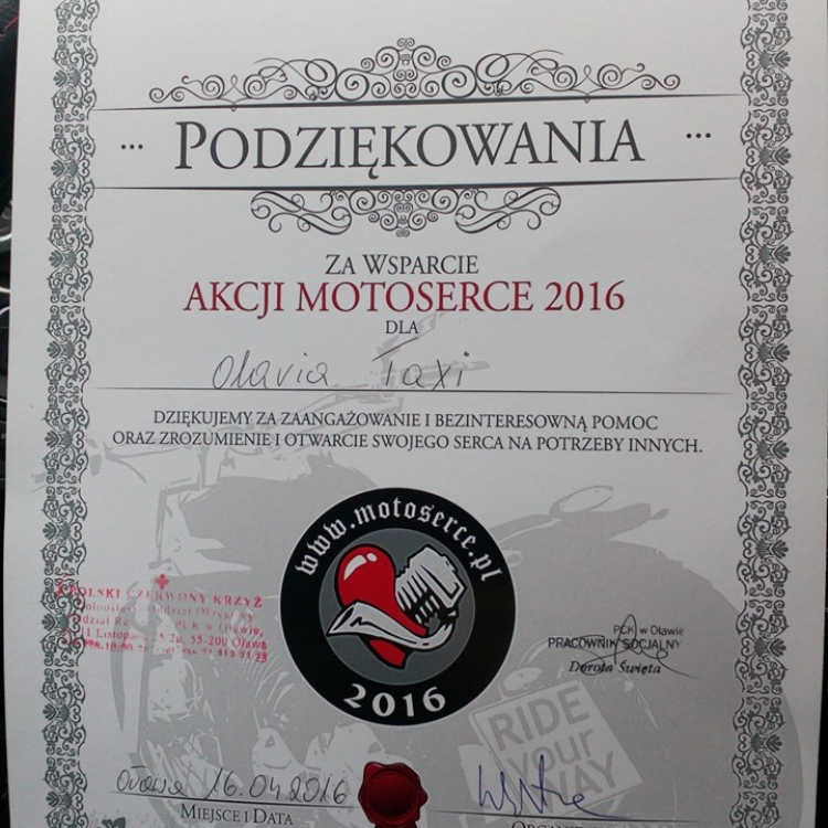 Podziękowania od MOTOSERCE 2016