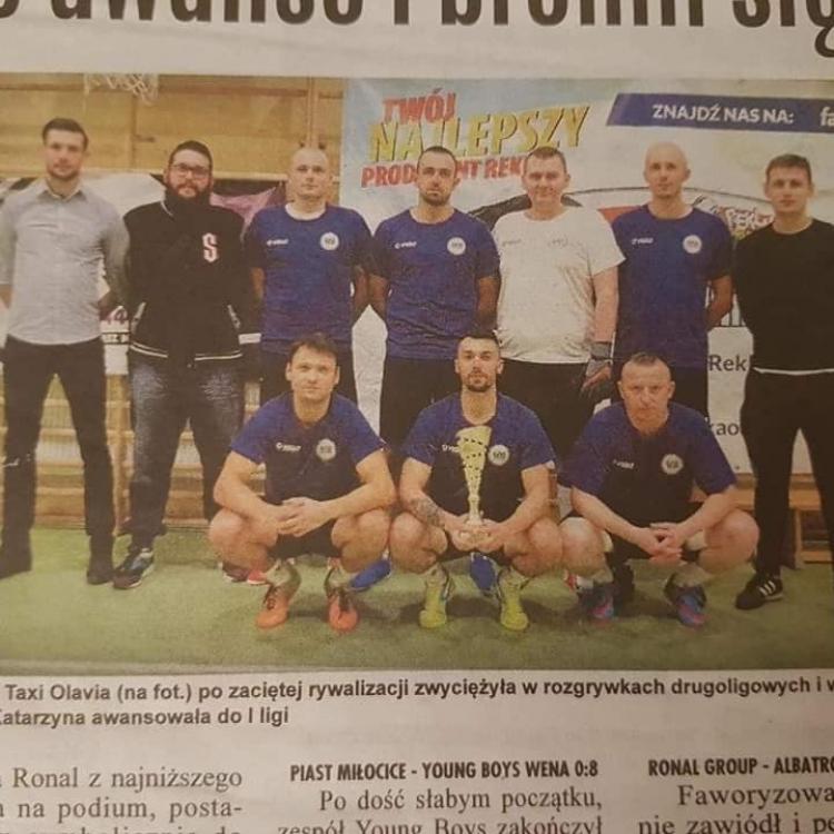 Zdjęcie z gazety oławskiej Fc Olavia