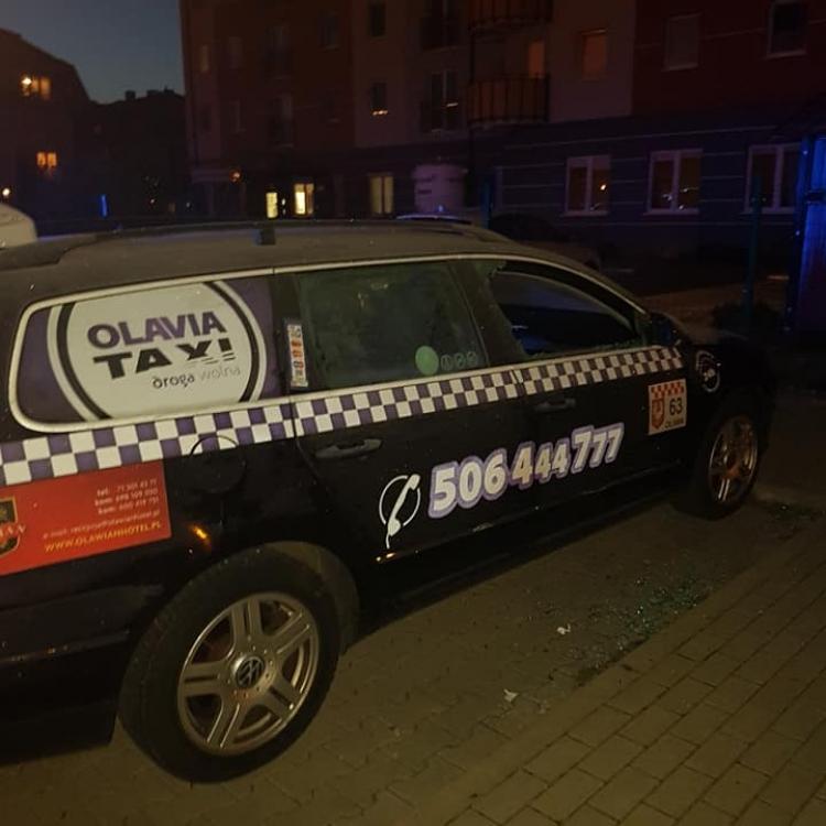 Nocne włamanie do jednej z naszych taksówek