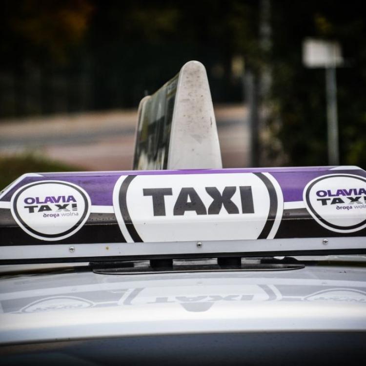 Oklejenie koguta Olavia Taxi